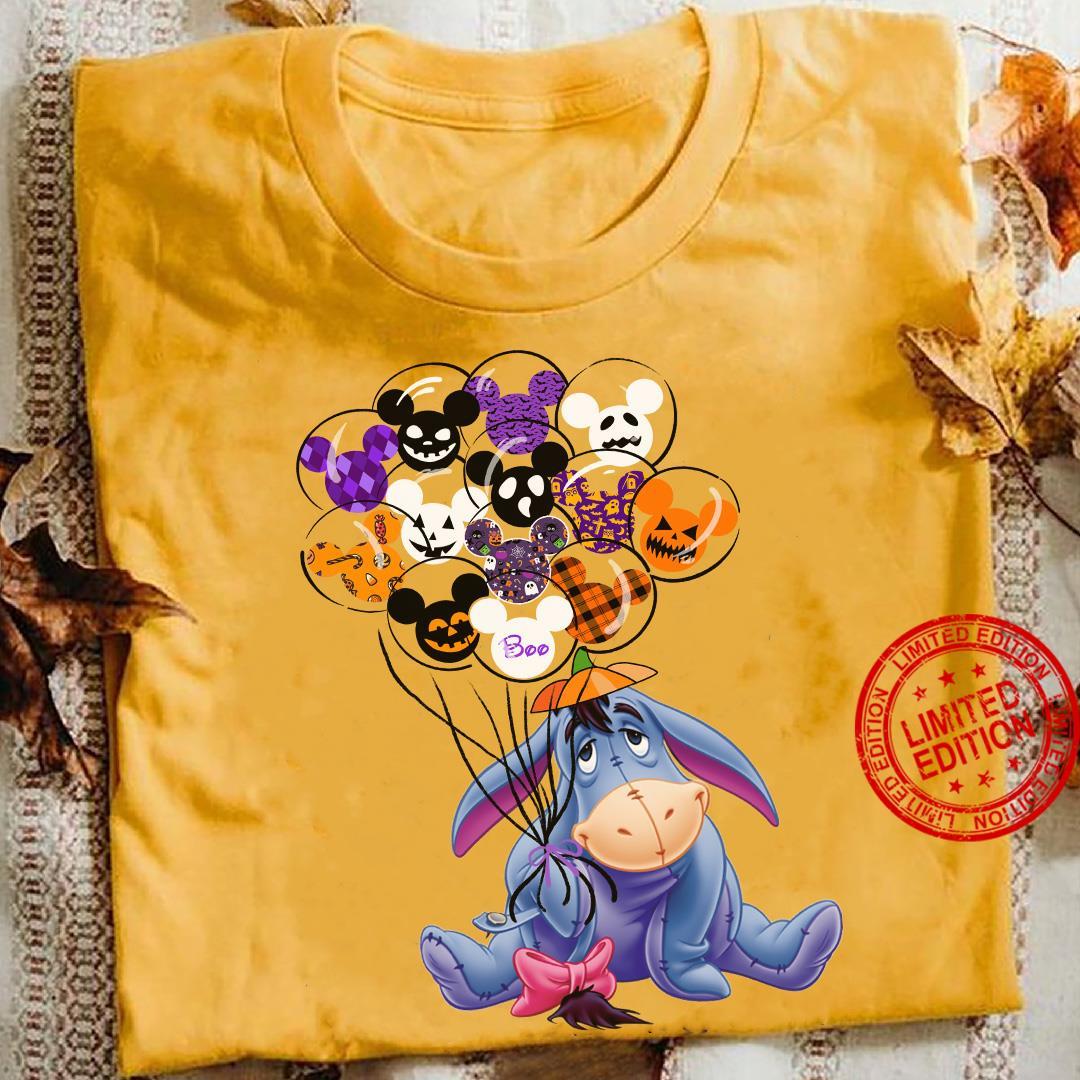 Eeyore Holding Balloon Mickey Mouse Shirt