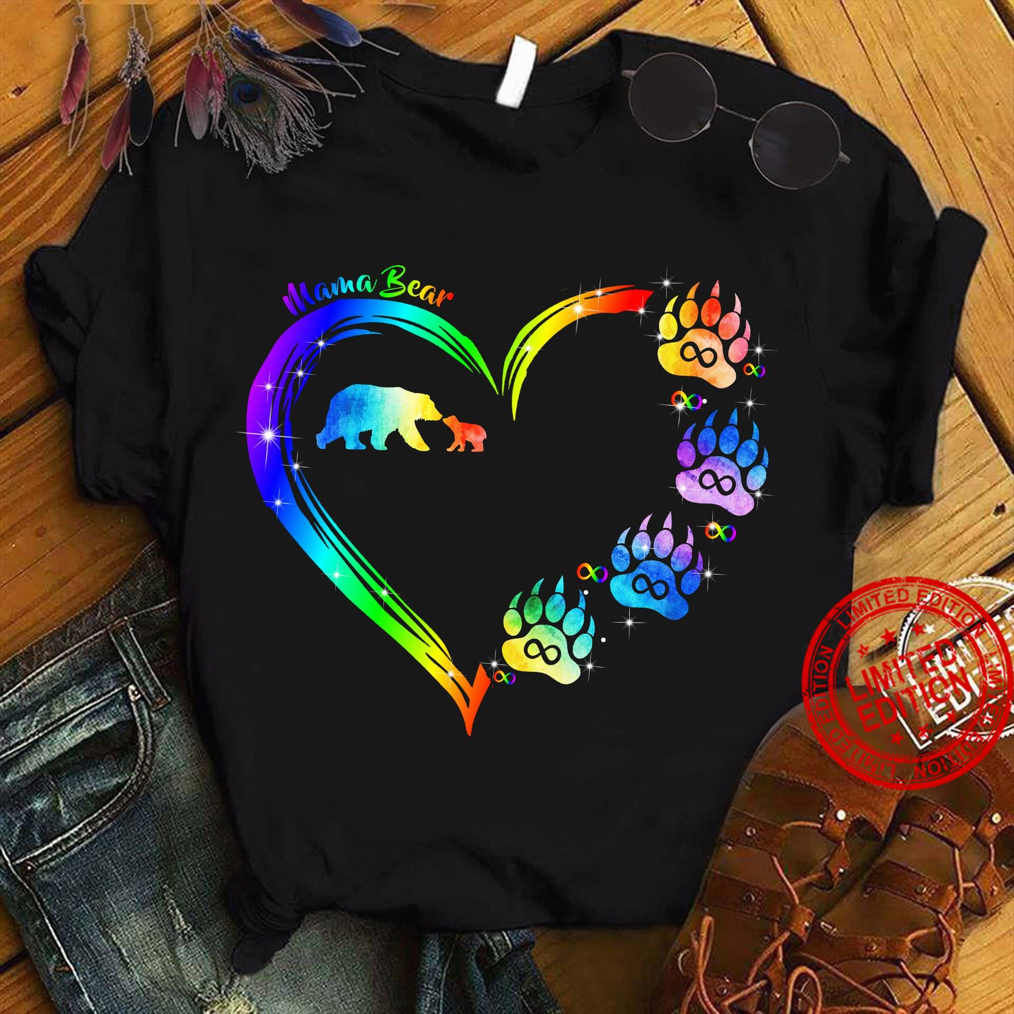 Mama Bear Heart Shirt