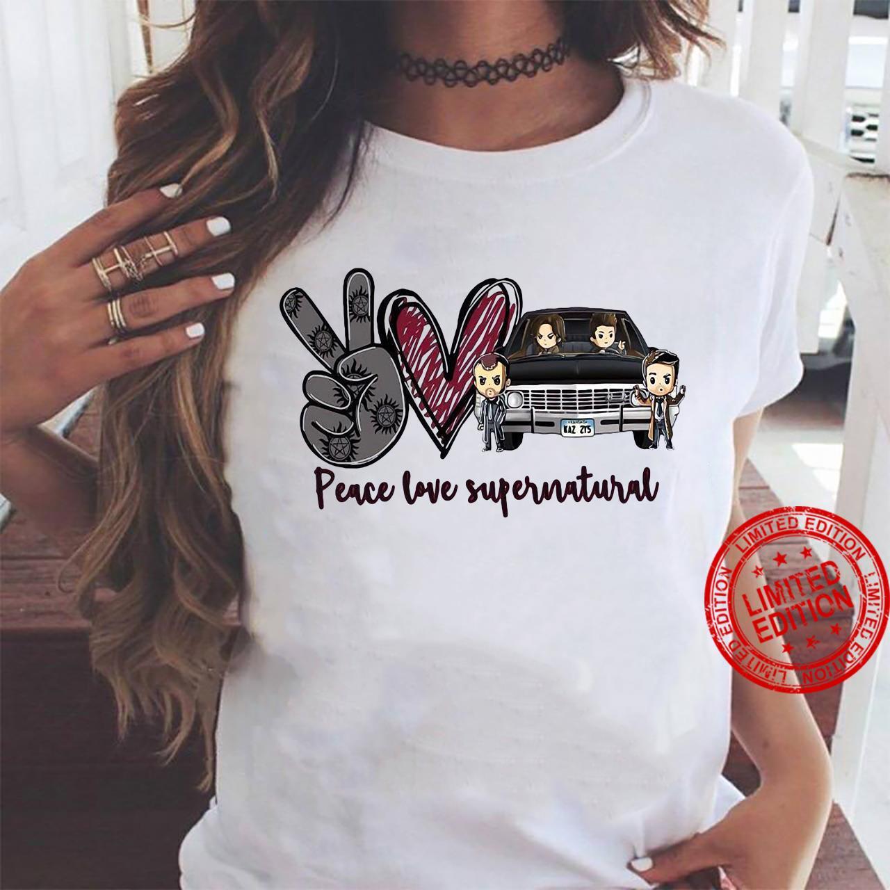 Peace Love Supernatural Shirt ladies tee
