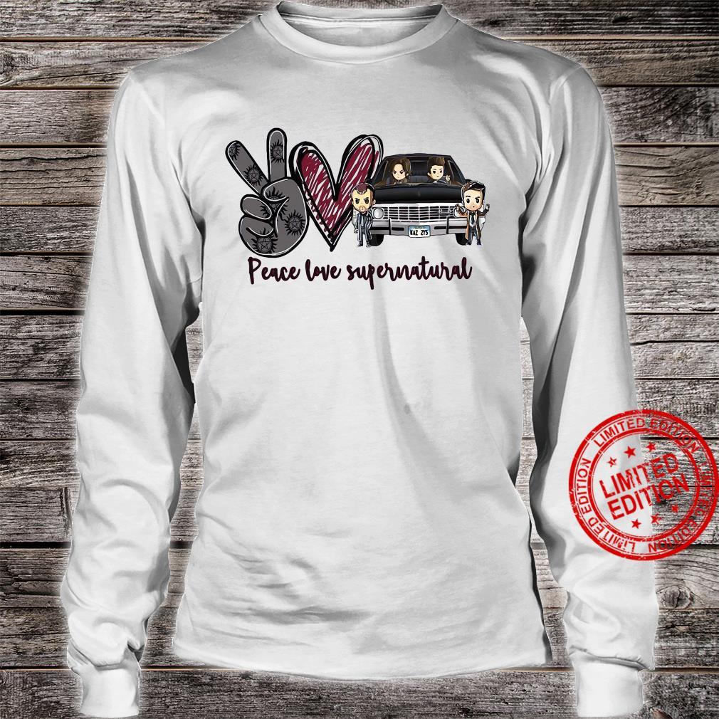 Peace Love Supernatural Shirt long sleeved