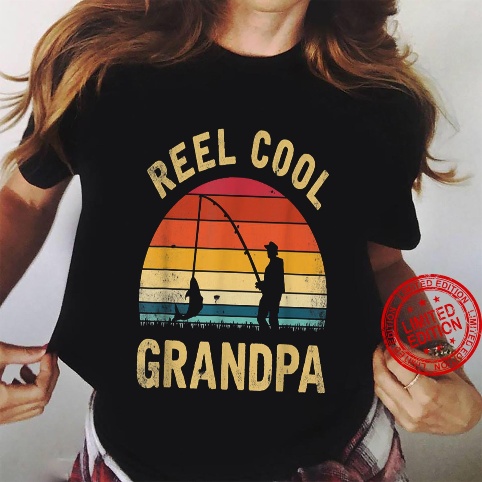Reel Cool Grandpa Shirt ladies tee