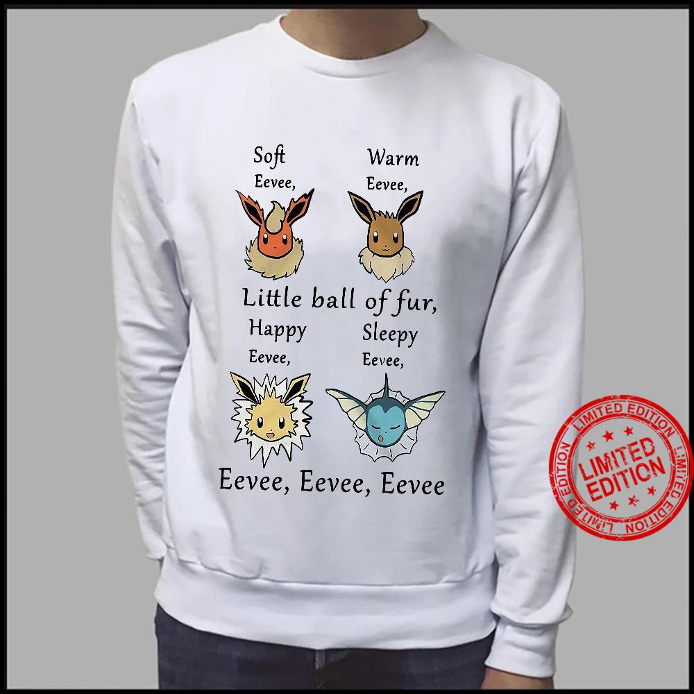 Soft Eevee Warm Eevee Little Ball Of Fur Happy Sleepy Eevee Eevee Eevee Shirt sweater