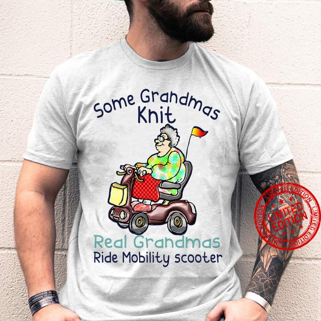 Some Grandmas Knit Real Grandmas Ride Mobility Scooter Shirt unisex