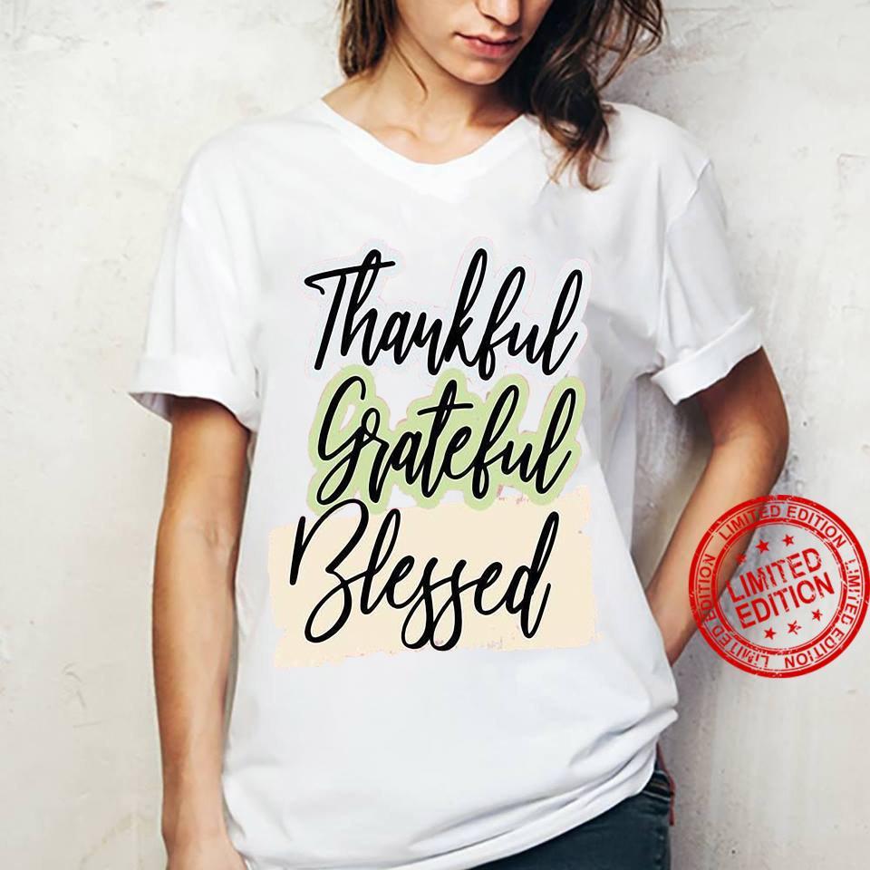 Thankful grateful blessed shirt ladies tee