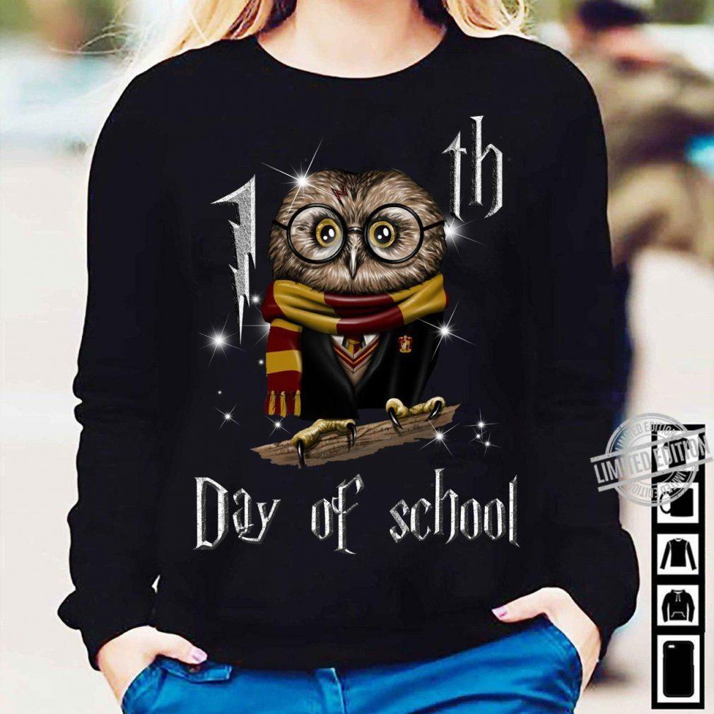 100th Day Of School Owl Hogwart Shirt