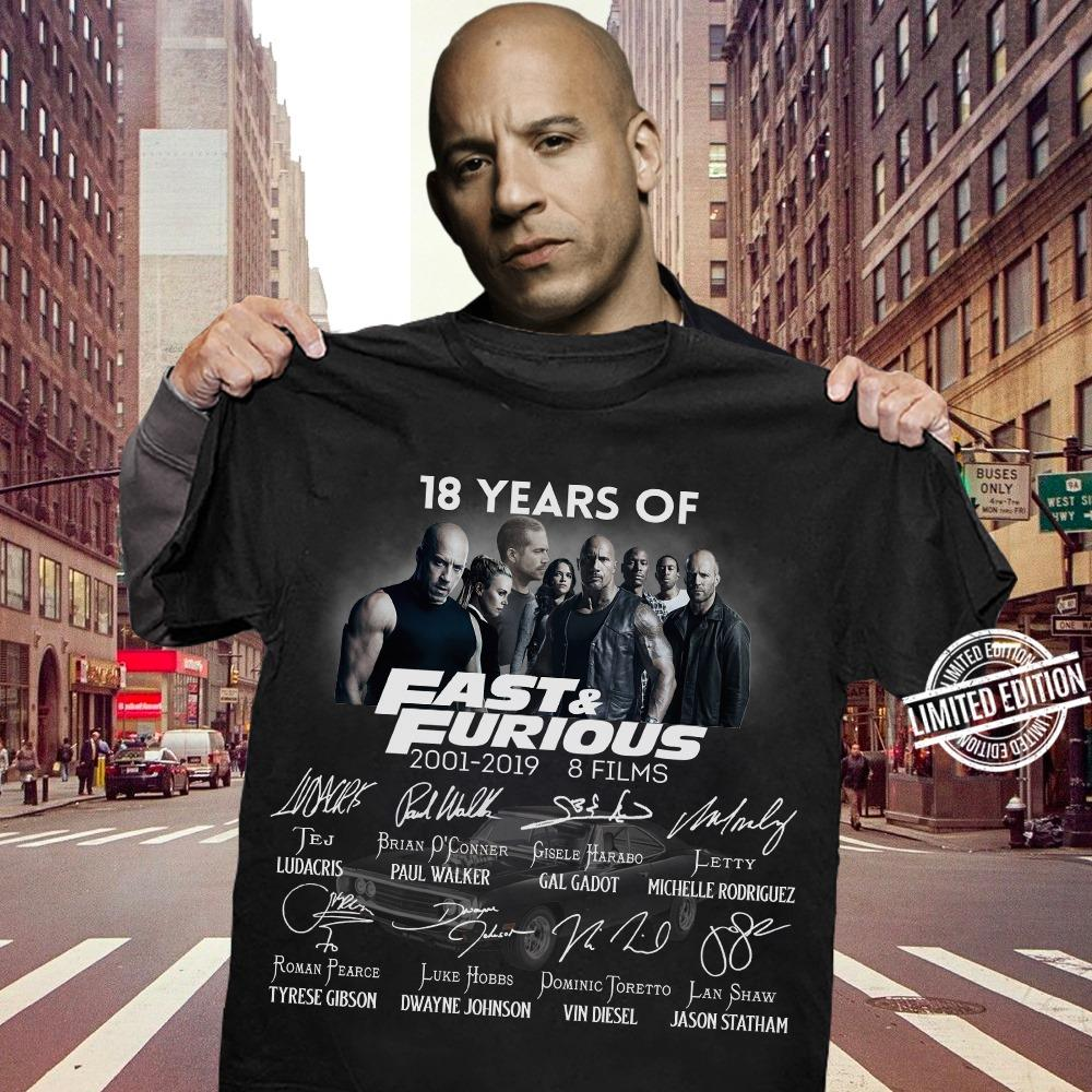 18 Years Of Fast And Furious Shirt