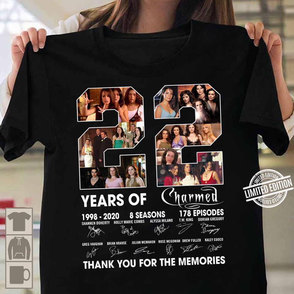22 Years Of Charmed Thank You You Memories Shirt