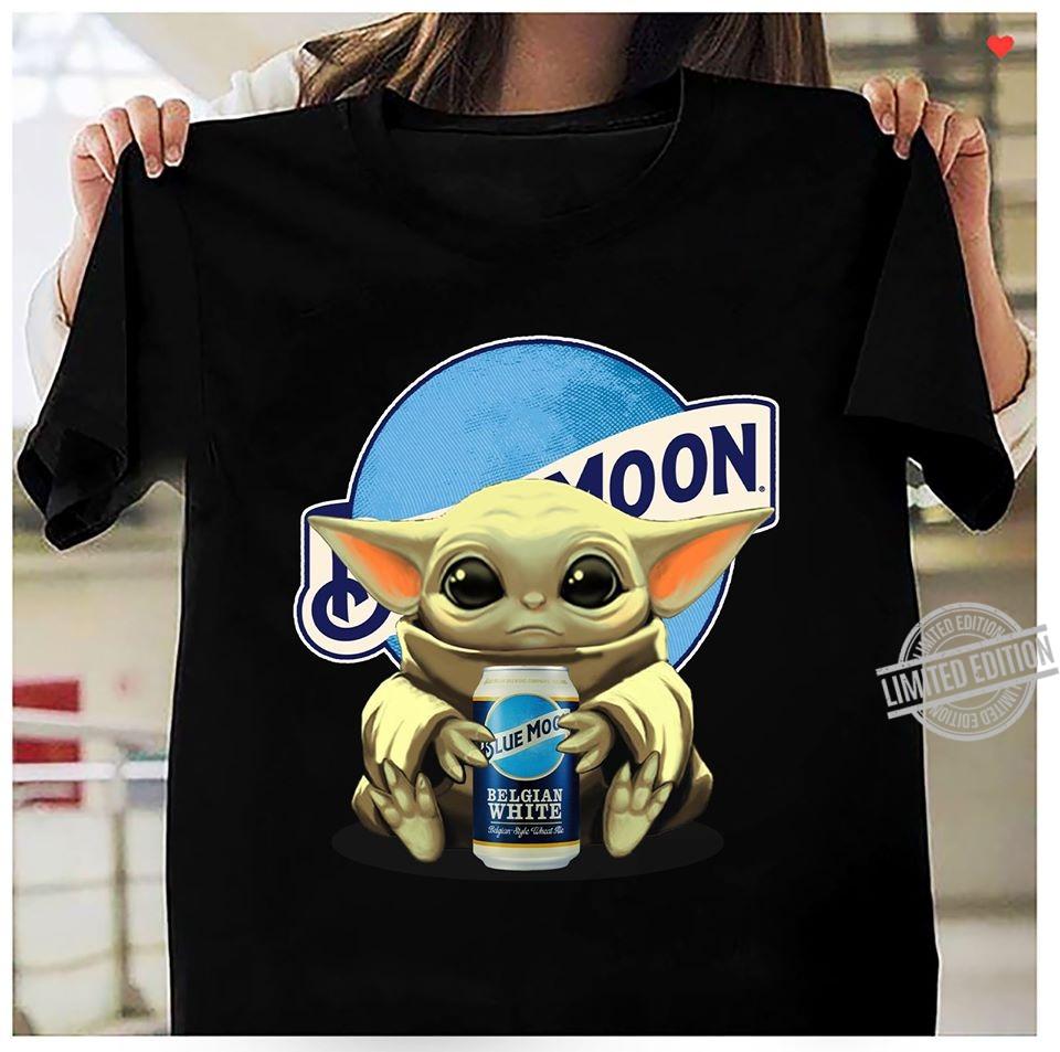 Baby Yoda Drink Blue Moon Shirt