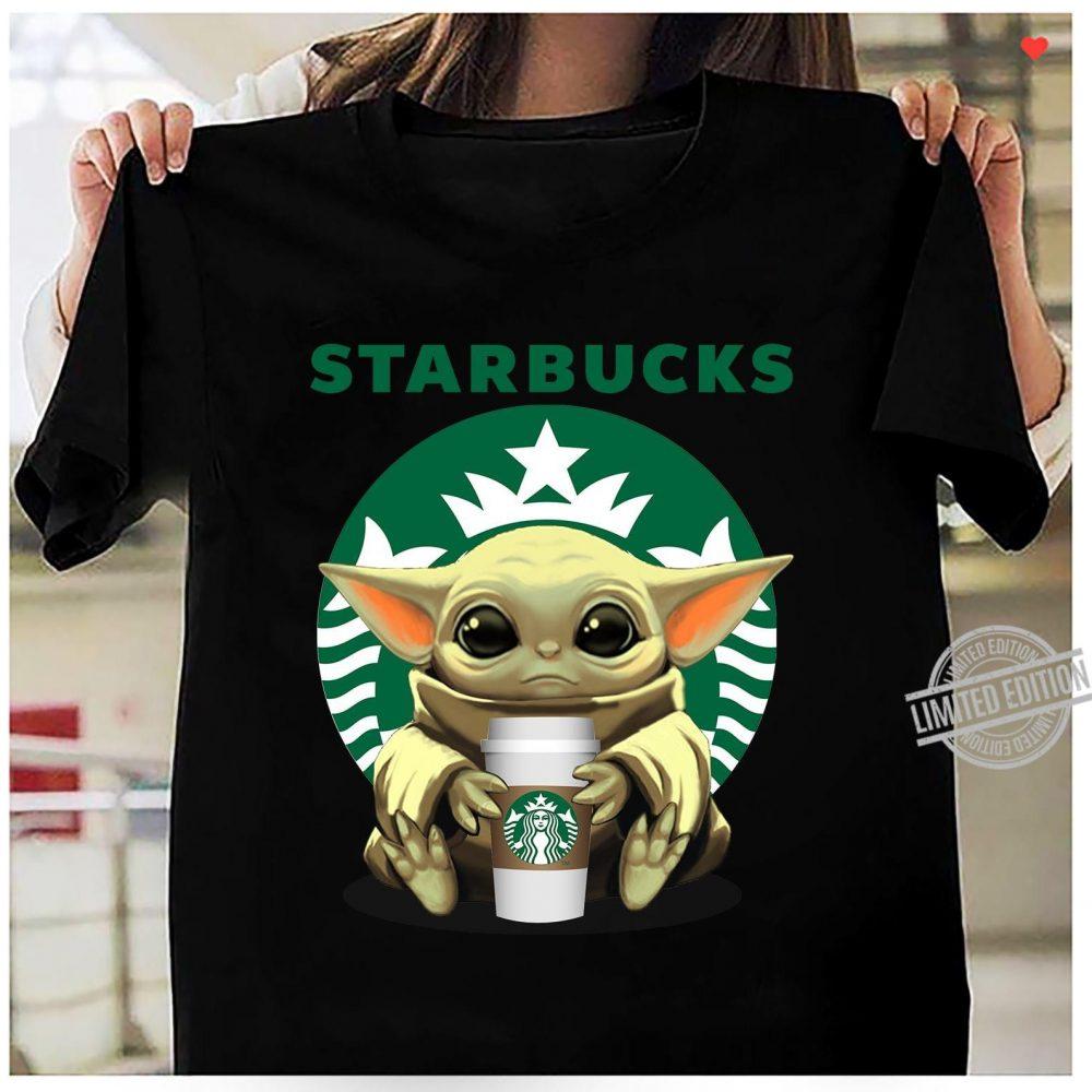 Baby Yoda Drinking Starbucks Coffee Shirt