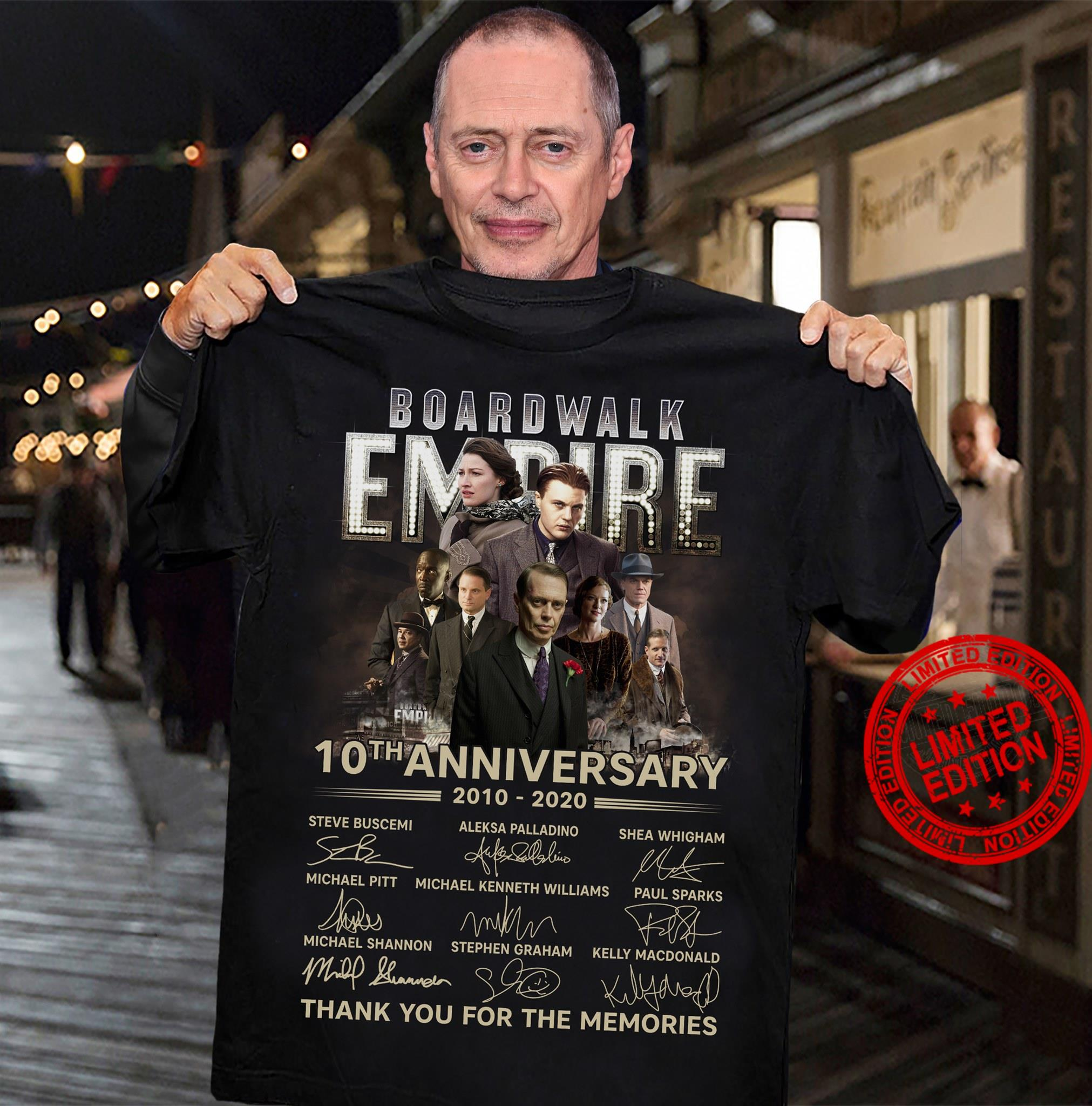 Boardwalk Empire 10th Anniversary Thank You For The Memories Shirt