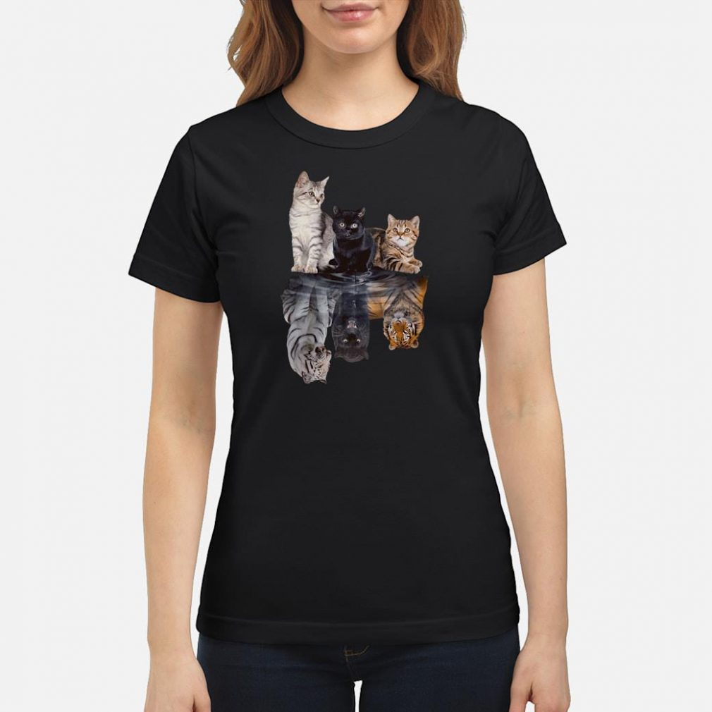 Cats in the water shirt ladies tee