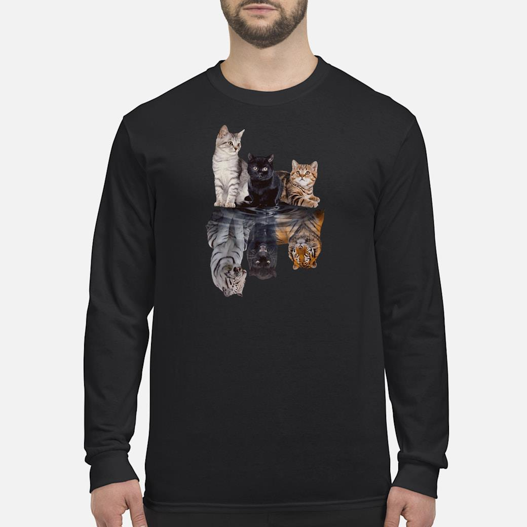 Cats in the water shirt Long sleeved