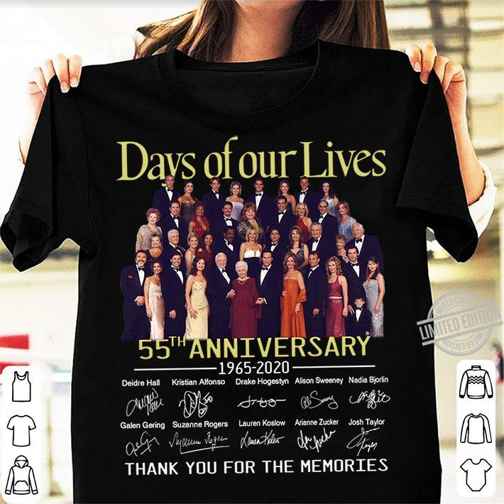 Days Of Our Lives 55th Anniversary Thank You For The Memories Shirt