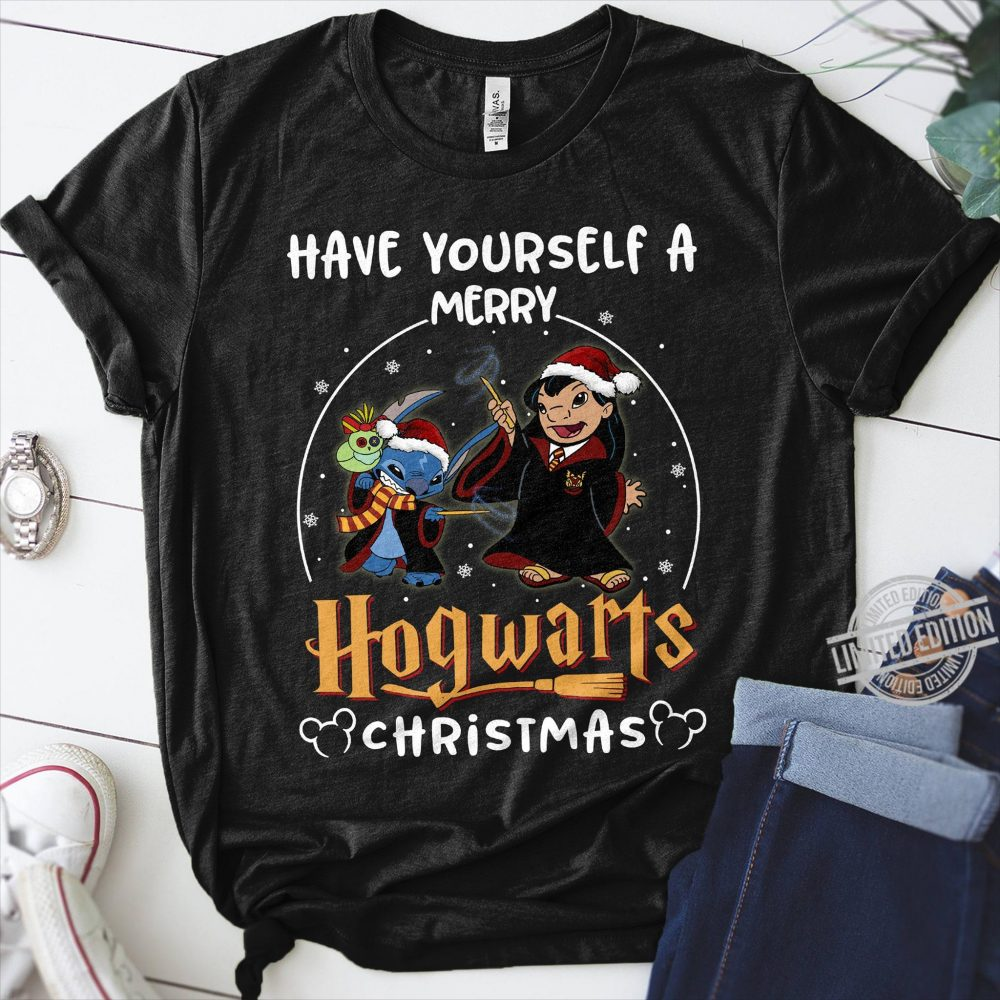 Have Yourself A Merry Hogwarts Christmas Stitch Shirt