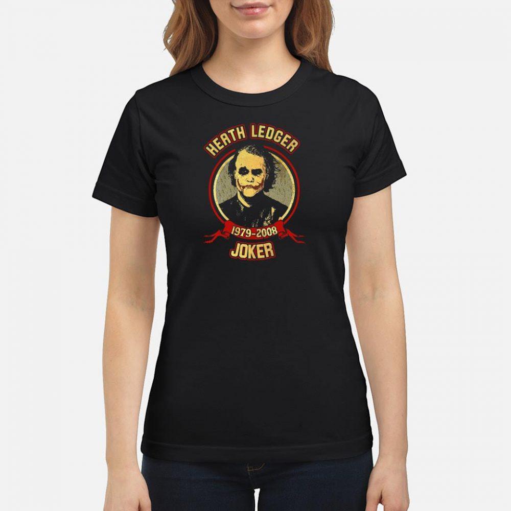 Heath Ledger 1979 2008 joker shirt ladies tee