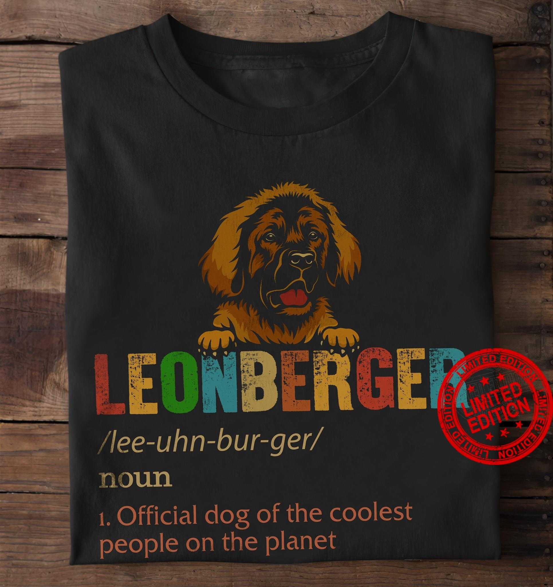 Leonberger Official Cat Of The Coolest People On The Planet Shirt