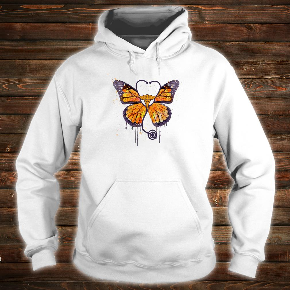Monarch butterfly stethoscope shirt hoodie