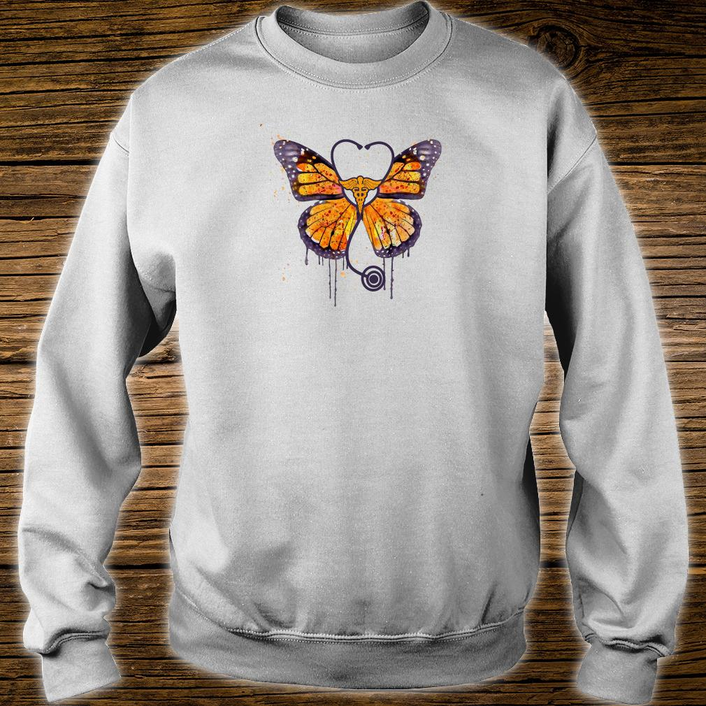 Monarch butterfly stethoscope shirt sweater