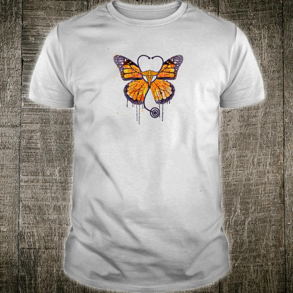 Monarch butterfly stethoscope shirt
