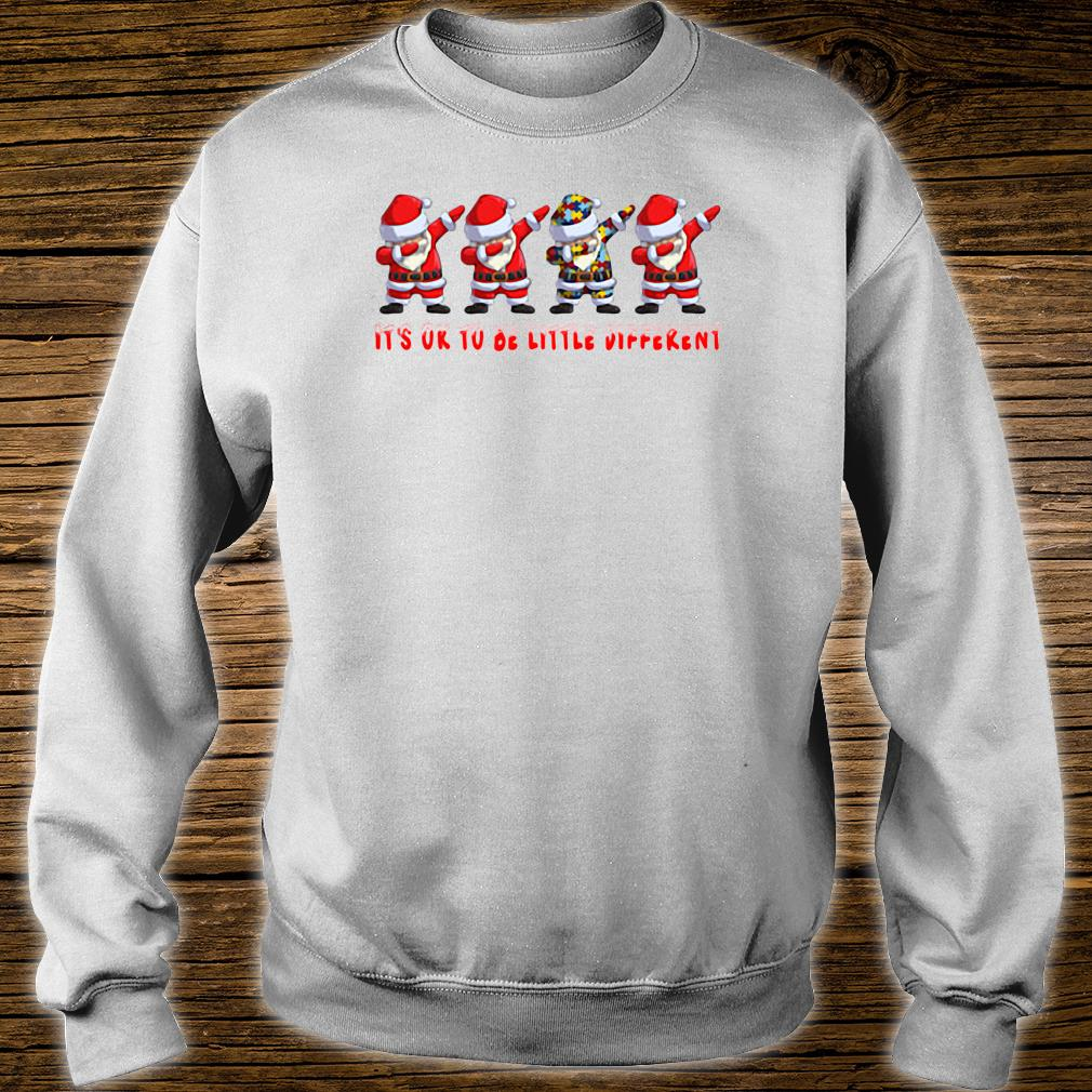 Santa Claus dabbing Autism It's ok to be little different shirt sweater