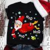 Santa Swimming H2O H2O H2O Shirt
