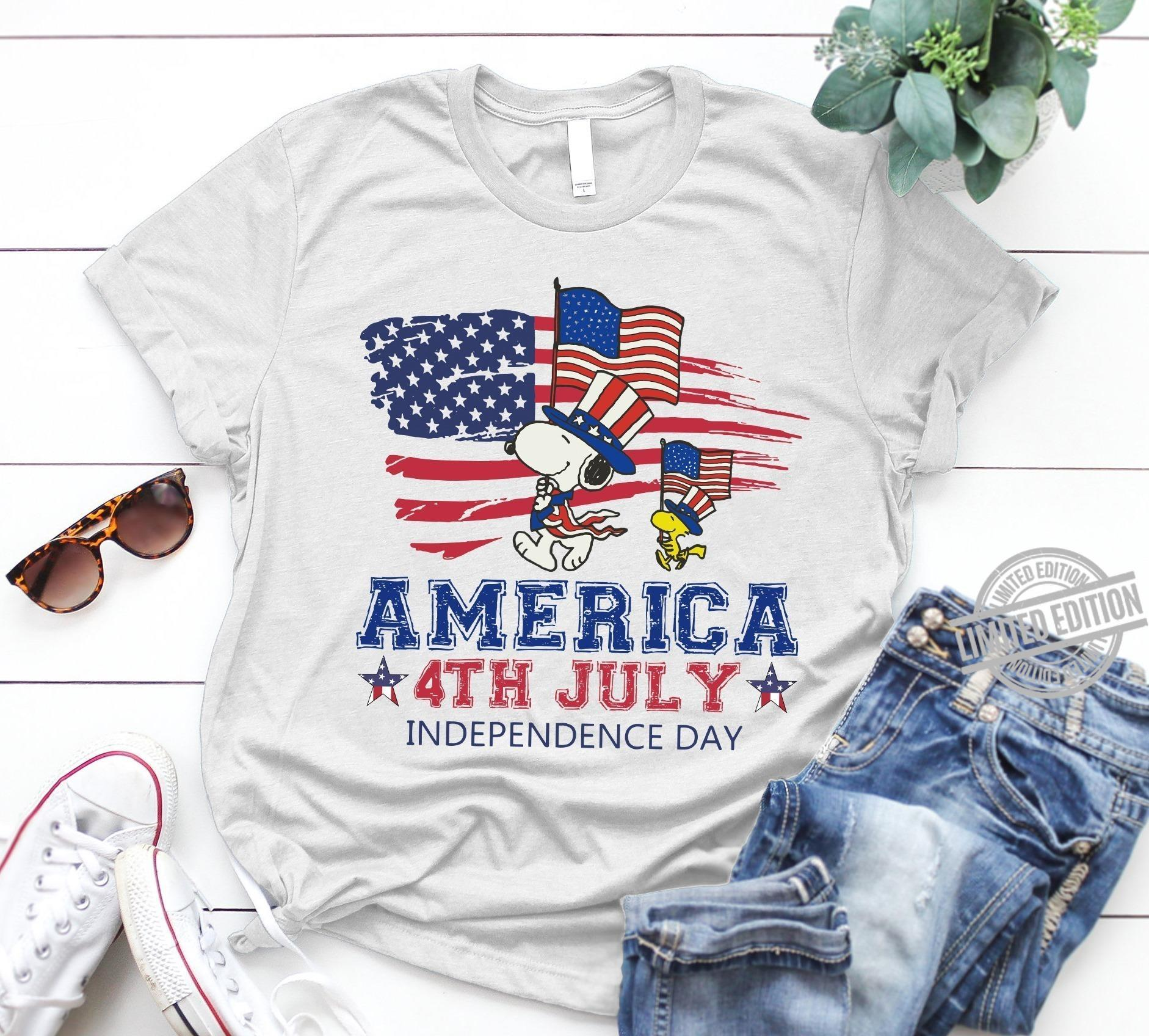 Snoopy America 4th July Independence Day Shirt