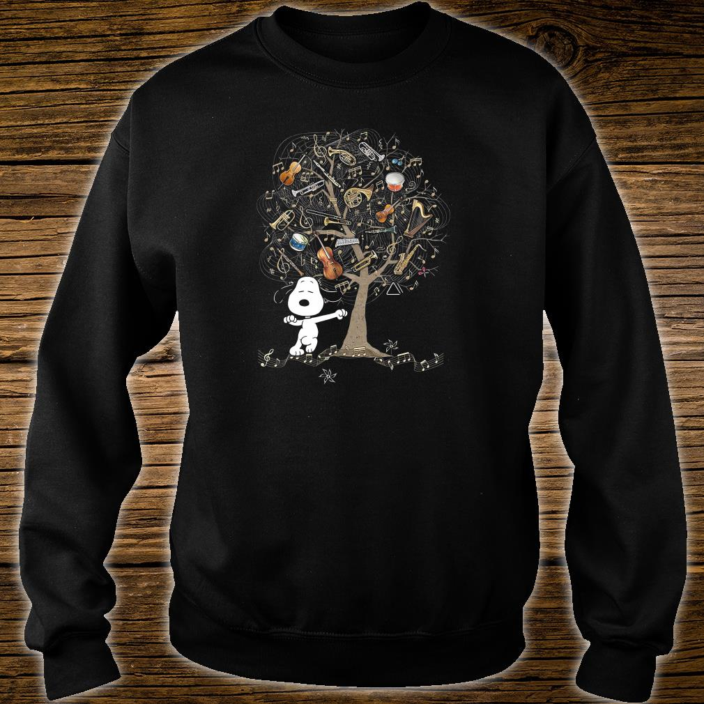 Snoopy and instrument tree shirt sweater
