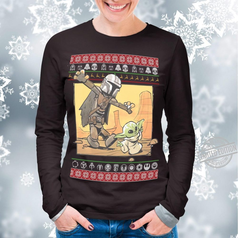 Star Wars Stormtrooper And Baby Yoda Christmas Shirt