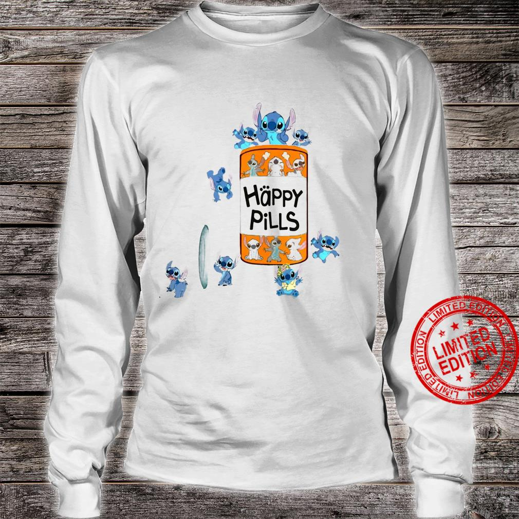 Stitch Happy Pills Shirt long sleeved