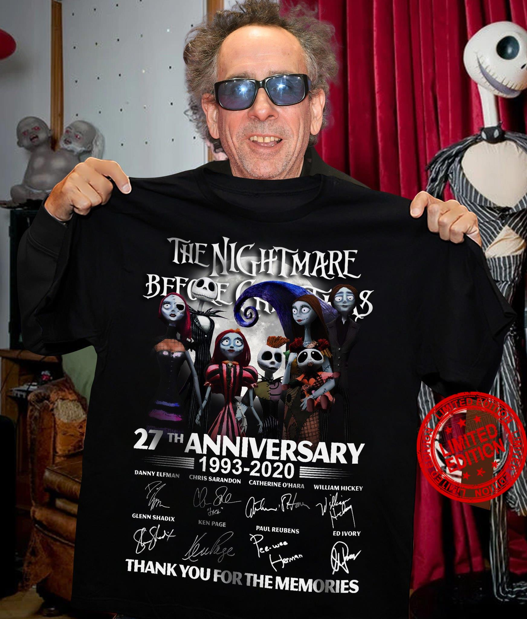 The Nightmare Before Christmas 27th Anniversary 1993 2020 Thank You For The Memories Shirt