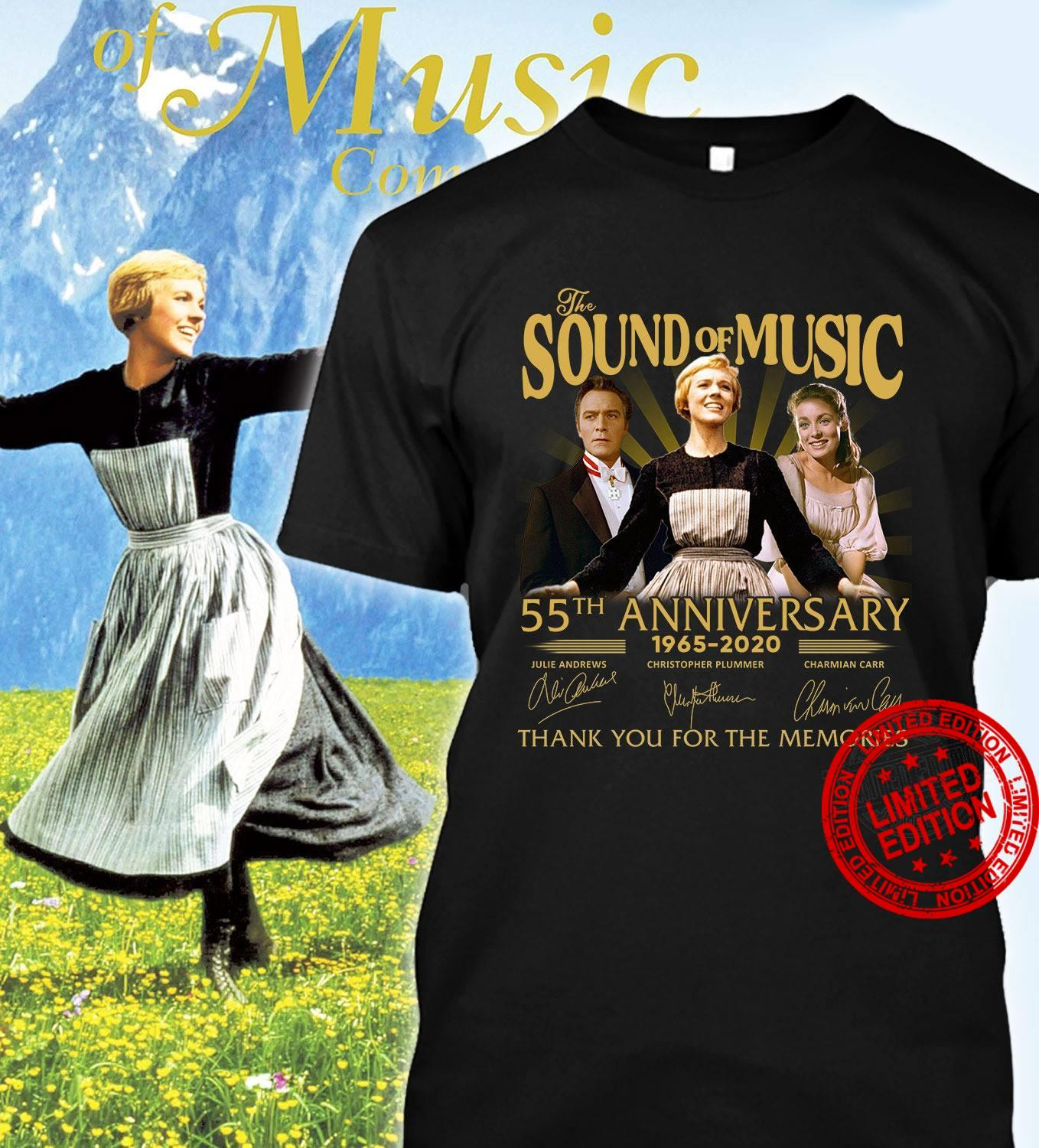 The Sound Of Music 55th Anniversary 1965-2020 Thank You For The Memories Shirt