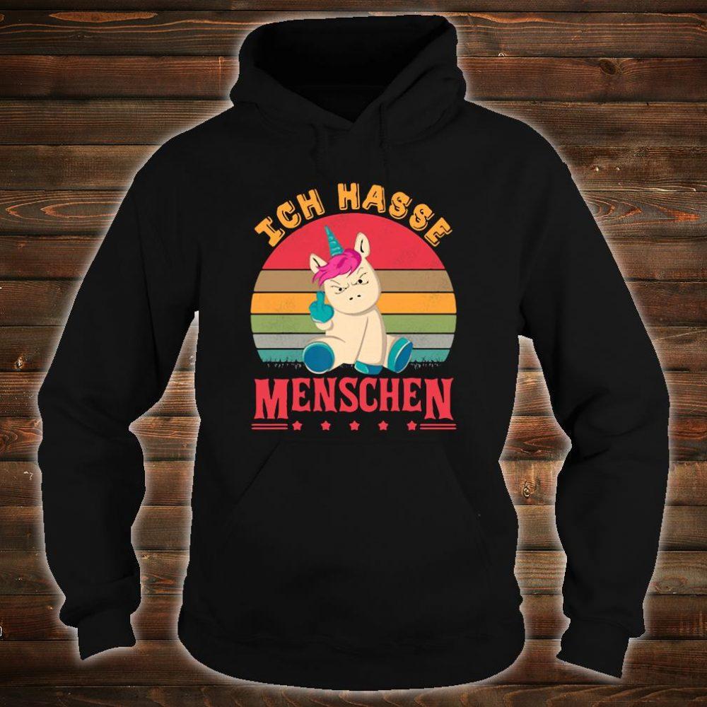 Unicorn fuck ich hasse Menschen vintage sunset shirt hoodie