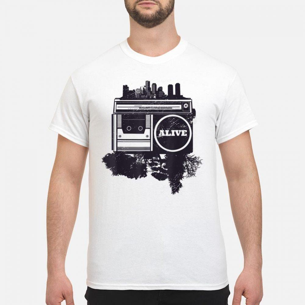 Vintager Stadt Hip-Hop shirt