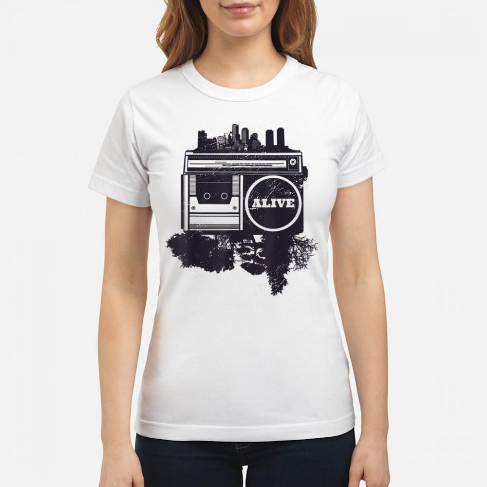Vintager Stadt Hip-Hop shirt ladies tee