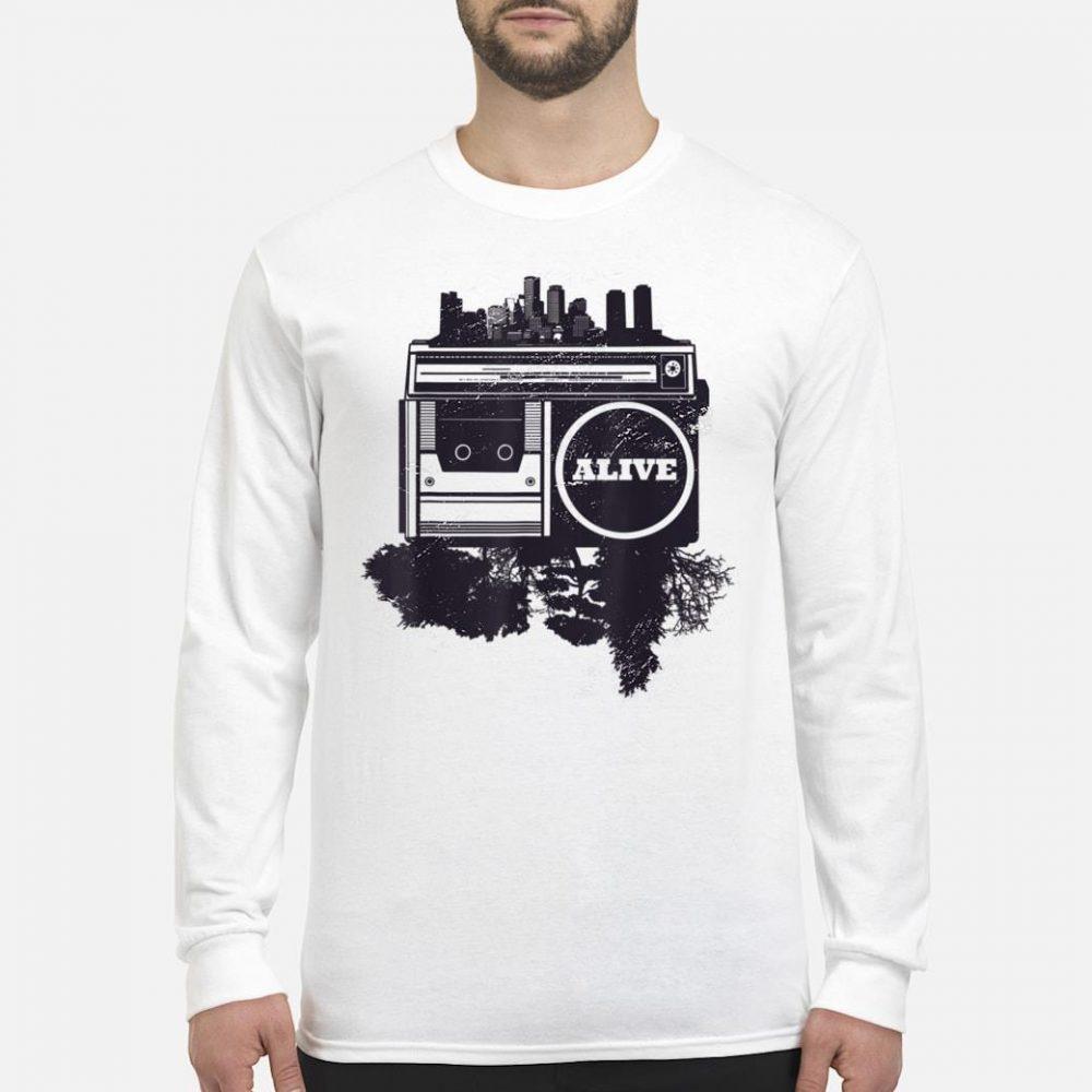 Vintager Stadt Hip-Hop shirt long sleeved