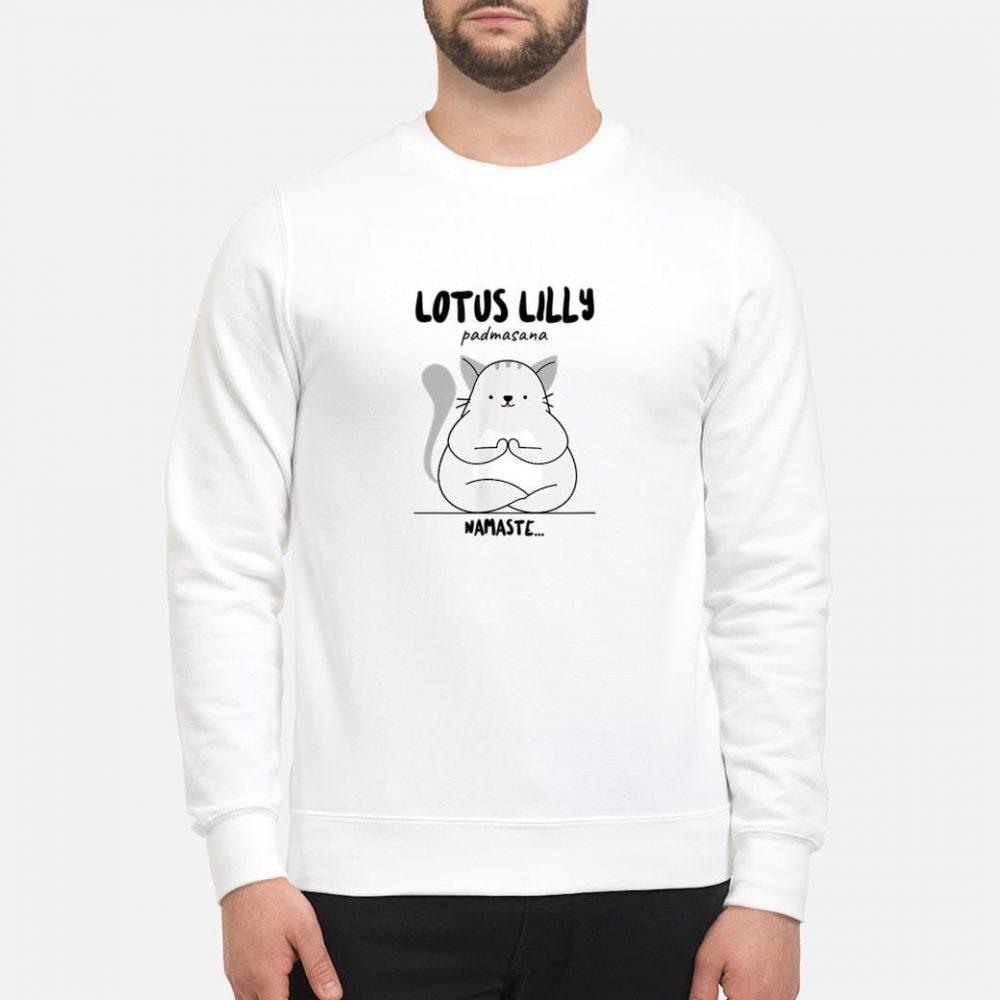 Yoga Cat Lotus Lilly Padmasana Namaste Shirt sweater
